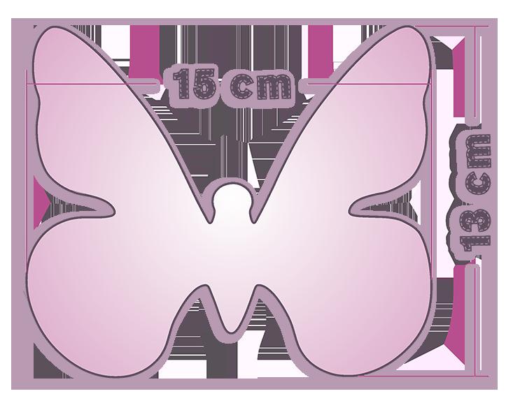 Animali Farfalla Pannolenci 13x15